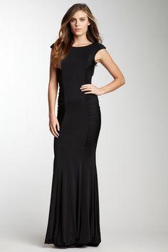 Analili Gala Dress black low back lace