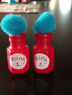Thing 1 and thing 2 bubbles