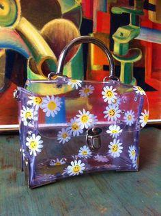 90's Box vinyl daisy purse...