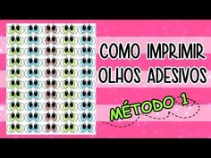 Como Imprimir Olhos Adesivos - MÉTODO 1 - YouTube Doll Sewing Patterns, Sewing Dolls, Diy And Crafts Sewing, Diy Crafts For Kids, Sewing For Kids, Baby Sewing, Diy Doll Eyes, Kids Hands, Learn To Sew