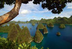 "Pulau Wayag - Raja Ampat, Indonesia   ""Raja Ampat"" by Regy Kurniawan, via 500px."