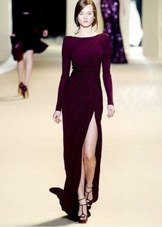 dress elie saab prom dress formal dress leg slit wrap dress long sleeves #formal dress