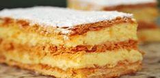 Mil Folhas (One Thousand Sheets) Köstliche Desserts, Chocolate Desserts, Delicious Desserts, Portuguese Desserts, Portuguese Recipes, Sweet Recipes, Cake Recipes, Dessert Recipes, Cake Decorating Tips
