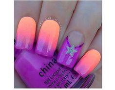 Neonowy manicure ombre - super pomysły na kolorowe paznokcie - Strona 14