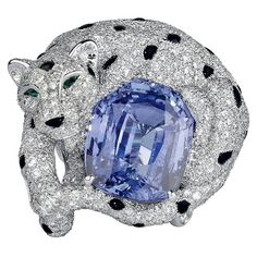 Some of my favorite pieces created by Cartier from the Secrets et Merveilles high jewellery collection, 2009. . ➡ Please swipe through for more views. . 1. Necklace in platinum set with sapphire beads, briolette-cut diamonds of 7.15cts. Panthére set with emerald eyes, sapphire spots, onyx nose and brilliant-cut diamonds. . 2. Ring in platinum set with one 20.82cts cushion-shaped sapphire, onyx spots and nose, emerald eyes and brilliant-cut diamonds. . 3 Bracelet in platinum, sapphire b...