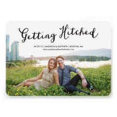Hitched   Save the Date 5x7 Photo Card. $2.10 #savethedate #wedding #invitation #weddinginvitation #futurewedding