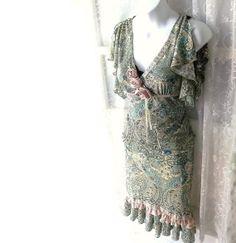Shabby Bohemian Dress.Skirt Blouse Peasant. by ShabbyPeonie, $42.00