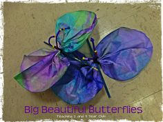 Teaching 2 and 3 Year Olds: Big Beautiful Butterflies!