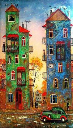 When I saw for the first time the works of the Georgian artist David Martiashvili, I wondered from what children's story they were. It turned our that they are paintings and not book illustrations. Though they depict a reality which sends us back to the pleasant times of the near past, they are also powerful storytellers that unfold the imagination for amazing tales to be written. official site - http://www.martiashvili.com/