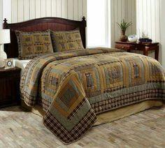 Patchwork Quilt Set 3 Pieces Sunset Cabin King -- For more information, visit image link. Quilt Bedding, Bedding Sets, Country Bedding, Metal Chandelier, Custom Quilts, Queen Quilt, Country Primitive, Quilt Sets, King Beds