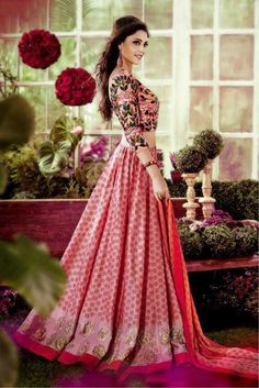 The Stylish And Elegant Lehenga Choli In Peach Colour Looks Stunning And Gorgeous With Trendy And Fashionable Printed,Embroidery . The Silk Fabric Party Wear Lehenga Choli Looks Extremely Attractive A...