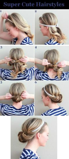 Looks great! It does make it easier if you put the ponytail holder in it, so don't forget that step!! Otherwise this is a new, cute, quick hairstyle to be added to my list! YAY!