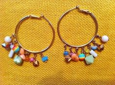 Colorful-Trendy-Fall-Golden-Plastic-Dangle-Hoop-Earrings-Leverback-Free-Shipping