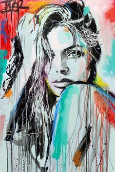 New Painting Abstract Woman Saatchi Online Ideas Tableau Pop Art, Arte Pop, Portrait Art, Portraits, Portrait Acrylic, Abstract Portrait, Art Auction, Figurative Art, Female Art
