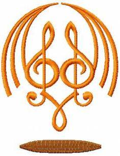 treble clef free machine embroidery design 8. Machine embroidery design. www.embroideres.com