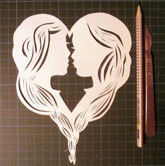 Un bien joli #coeur en #papier découpé