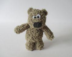 Fluffy Bear toy knitting patterns by fluffandfuzz on Etsy