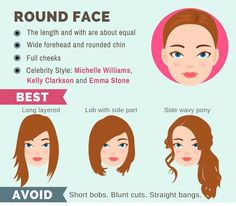 The Ultimate Hairstyle Guide For Your Face Shape - Hairstyles - Hair For Round Face Shape, Haircuts For Round Face Shape, Haircut For Face Shape, Long Face Shapes, Haircuts For Long Hair, Hairstyles For Round Faces, Cool Haircuts, Hairstyle Short, Short Haircut