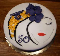 Lady's face cake