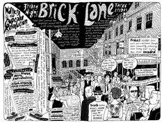 London Walks > Brick Lane by illustrator Badaude http://www.theguardian.com/travel/series/badaude-illustrated-london-walks