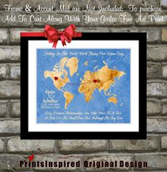 Deployment gift long distance world map anniversary army navy air chalkboard map design custom usa or world map gift locations hearts names date quote travel boyfriend girlfriend spouse print art distance gumiabroncs Gallery