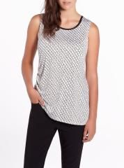 Sleeveless Asymmetrical Printed Blouse | Women | Shop Online at Reitmans #ReitmansJeans