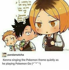 This is way too cute - Kenma singing Pokemon theme || #Haikyuu
