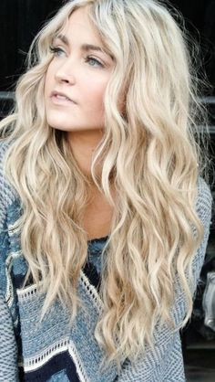 Blonde bohemian waves