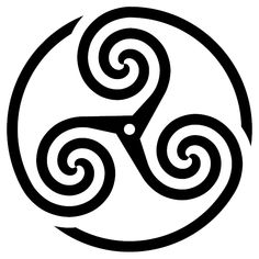 Celtic Symbols - The Triskelion:  This symbol represented progress and completion