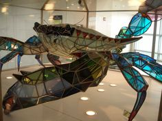 Callinectes Douglassi, Giant Stained Glass Crab Sculpture at Baltimore Washington International Airport