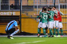 A quarta vitória seguida do Palmeiras no Campeonato Brasileiro veio apenas na reta final da partida, graças a um gol contra de Machado
