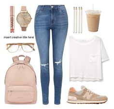 """""""sch00l dayzzz"""" by styledbybruni ❤ liked on Polyvore featuring MANGO, Topshop, New Balance, Givenchy, Cutler and Gross, Olivia Burton, Urban Decay and Kate Spade"""