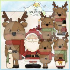 raindeer clip art | Reindeer 1 - NE Lisa Craig Clip Art : Digi Web Studio, Clip Art ...