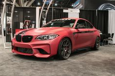 Dinan Engineering displayed their 429HP Signature Series Stage 2 BMW M2 at the 2016 SEMA Show. It's powered by Dinan's Big Turbo kit with the Dinantronics Stage 4 Performance Tuner and rides on Dinan's high-performance adjustable coilover suspension system, Dinan lightweight adjustable sway bars, Dinan rear link kit, Dinan camber and 19x9.5/19x10.5 Forgeline one piece forged monoblock GA1R wheels finished in Satin Gunmetal! See more at…