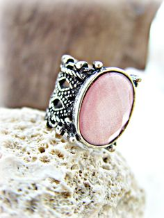 Boho Ring Boho Pink Ring Boho Jewelry Hippie by HandcraftedYoga, $21.00