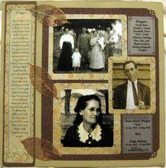Ancestry Scrapbooking Layouts | Heritage Scrapbook p3 - I like the margin note about the family names' origin.