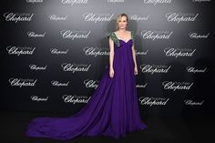 Diane Kruger - The winner of last year's Best Actress award at the festival opted for a regal Prada gown with emerald straps for the Chopard Trophy event. Diane Kruger, Nice Dresses, Prom Dresses, Formal Dresses, Best Actress Award, Beauty And Fashion, Chopard, Red Carpet Looks, Cannes Film Festival