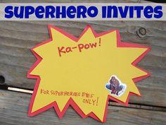 Secret Message Invites for Superhero Party or Secret Agent Party