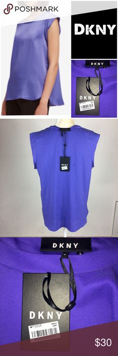 09145c615a39d5 DKNY NWT $69 Purple Polished Blouse Scoop Neckline Dkny New With tags $  69.50 MSRP Blue