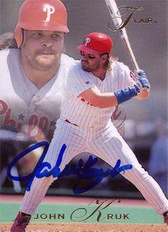 Rare Collectible Philadelphia Phillies Star John Kruk Autographed Signed Card