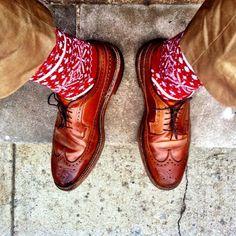 epauletshop:  Walt Cramerton Trousers, Corgi Fairisle Socks, Alden Whiskey Longwings