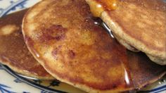 Blueberry oatmeal pancakes, made with ground oats instead of wheat flour, are a nice alternative if you are staying clear of wheat.
