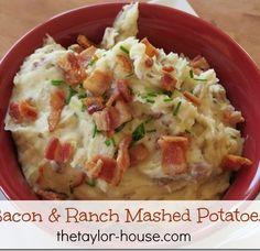 Cheesy Bacon and Ranch Mashed Potatoes