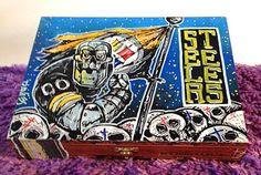 Custom Hand Painted Cigar Box Art – Steelers Art – Pittsburgh Steelers-Steelers Decor-Cigar Box–Smoking Decor-Stash Box-Cigar Boxes by TimothyDaviesArt on Etsy