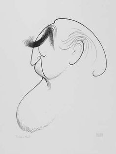 AL HIRSCHFELD. Self Portrait.