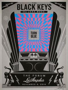 The Black Keys Shepard Fairey Los Angeles Poster