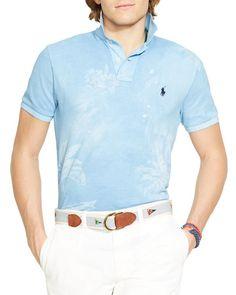 Polo Ralph Lauren Custom Fit Tropical Print Polo Shirt - Slim Fit