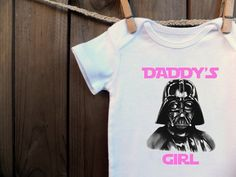 Items similar to Geeky Darth Vader Daddy's Girl Bodysuit Baby Infant toddler carters on Etsy Daddys Girl, My Baby Girl, Baby Love, Star Wars Baby Clothes, Star Wars Onesie, How To Have Twins, Baby Bodysuit, Future Baby, Baby Gifts