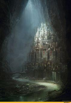 арт,красивые картинки,castle,Epic,Jesse van Dijk