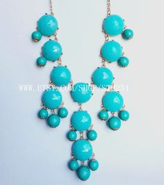 turquoise Bubble Statement Hollywood elegant Necklace by STH234, $19.00